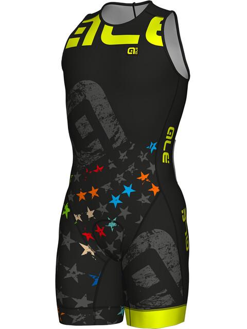 Alé Cycling Olympic Triathlon Stelle SS Skinsuit Men black-fluo yellow